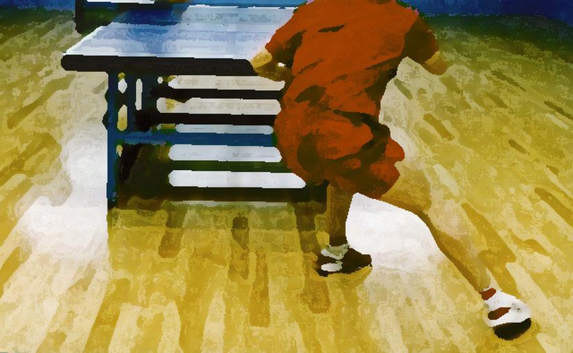 卓球難民 (飛びつき)